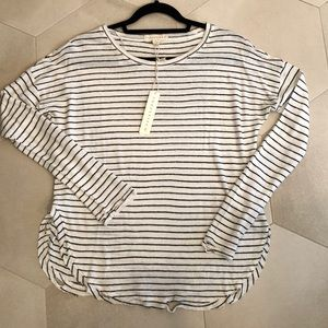Lovestitch Distresses Long Sleeve Top